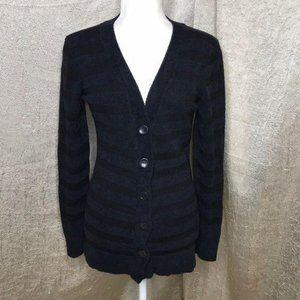 ExOfficio Dolce Black Striped Sweater Size Small